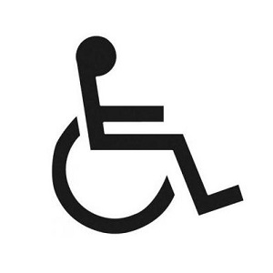Disabled Stencil (person in wheelchair) Image