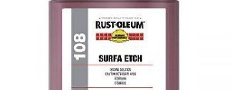 RUSTOLEUM SURFA ETCH SOLUTION